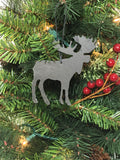 Moose Slate Christmas Ornament