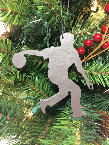 Basketball Player Slate Christmas Ornament