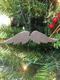 Angel Wings Slate Christmas Ornament
