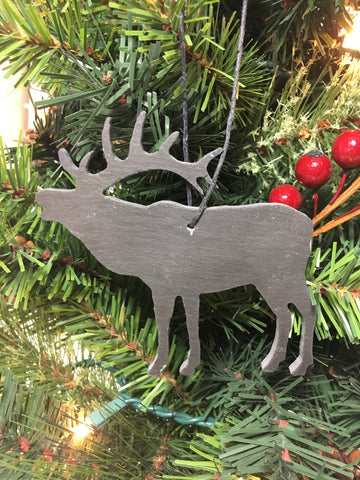 Elk Slate Christmas Ornament