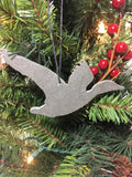Duck Slate Christmas Ornament