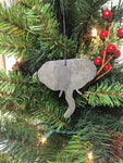 Elephant Slate Christmas Ornament