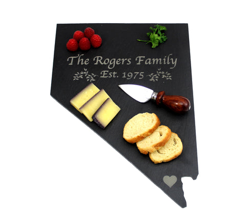 Nevada Slate Cheese Board- Personalized with Laser Engraving