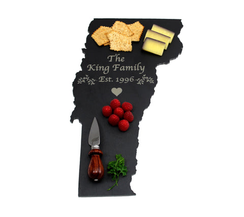 Vermont Slate Cheese Board- Personalized with Laser Engraving