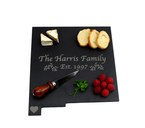 New Mexico Slate Cheese Board- Personalized with Laser Engraving
