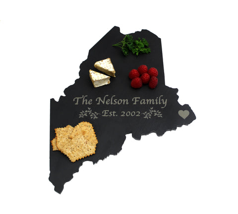 Maine Slate Cheese Board- Personalized with Laser Engraving