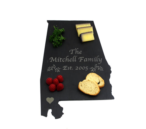 Alabama Slate Cheese Board with Laser Engraving