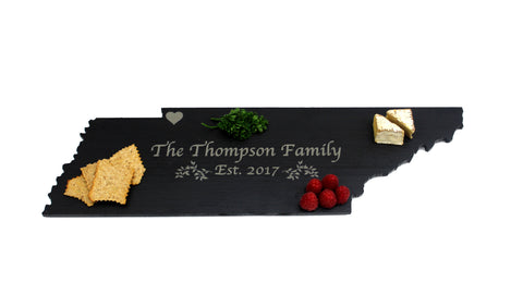 Tennessee Slate Cheese Board- Personalized with Laser Engraving