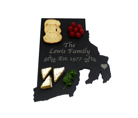Rhode Island Slate Cheese Board- Personalized with Laser Engraving