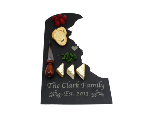 Delaware Slate Cheese Board- Personalized with Laser Engraving