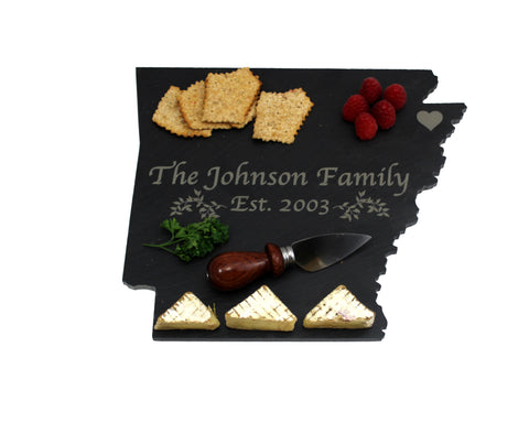 Arkansas Slate Cheese Board- Personalized with Laser Engraving