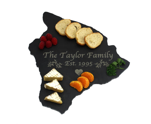Hawaii Slate Cheese Board- Personalized with Laser Engraving
