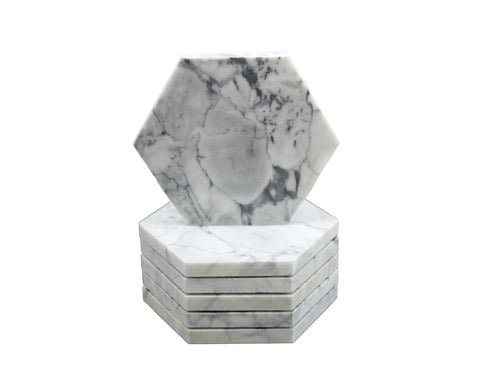 Hexagon Statuary Capri Coasters