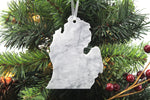 Michigan Marble Christmas Ornament