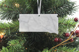 South Dakota Marble Christmas Ornament