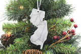 New Jersey Marble Christmas Ornament