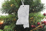 Mississippi Marble Christmas Ornament