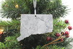 Connecticut Marble Christmas Ornament