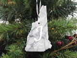 New Hampshire Marble Christmas Ornament