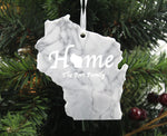Wisconsin Marble Christmas Ornament