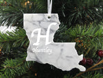 Louisiana Marble Christmas Ornament