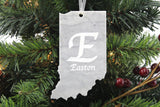 Indiana Marble Christmas Ornament
