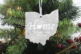 Ohio Marble Christmas Ornament