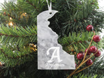 Delaware Marble Christmas Ornament