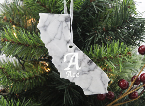 California Marble Ornament