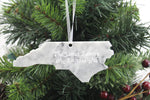 North Carolina Marble Christmas Ornament