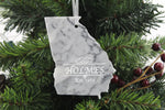 Georgia Marble Christmas Ornament