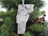 Vermont Marble Christmas Ornament