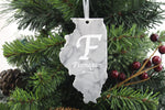 Illinois Christmas Ornament