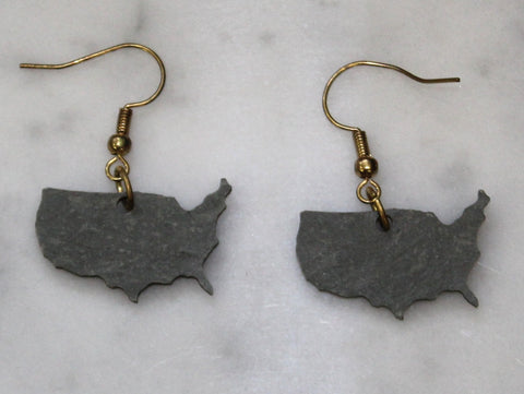 United States Slate Earrings