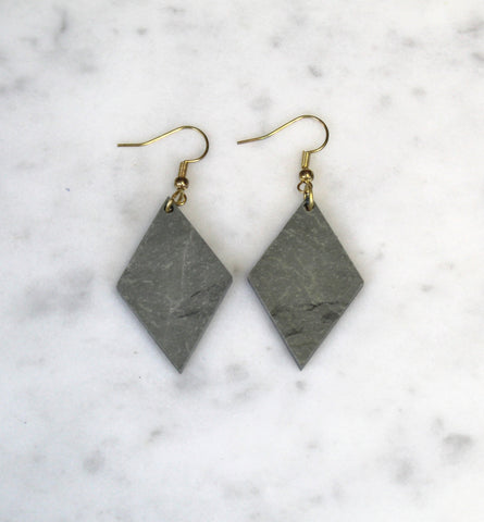 Diamond Slate Earrings