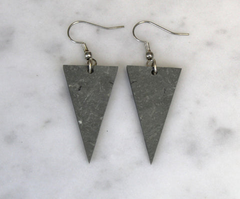 Triangle Drop Slate Earrings