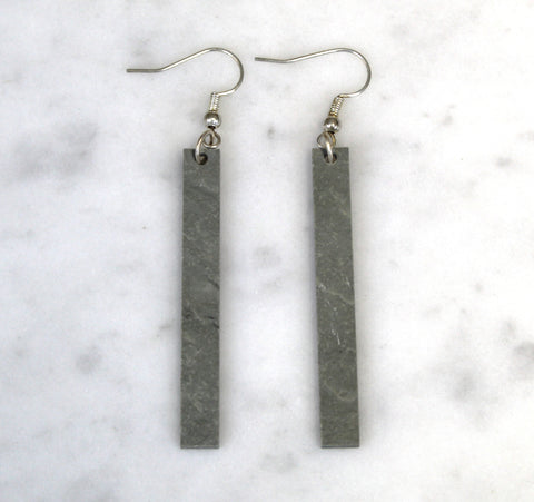 Long Bar Slate Earrings