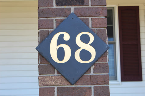 Diamond Slate House Number