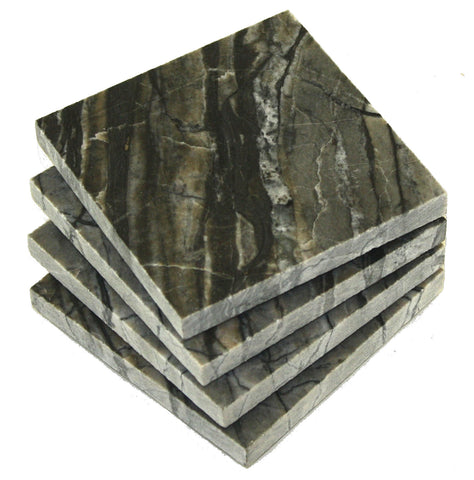 Black Oak Marble Coasters