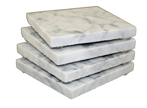 Square Grey Marble Coaster