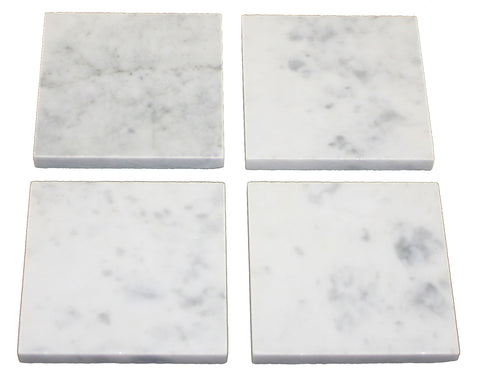 Set of 4 Carrara Marble Coasters