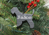 Miniature Schnauzer Slate Christmas Ornament