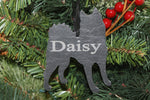 Siberian Husky Slate Christmas Ornament- Personalized Memorial for your Pet