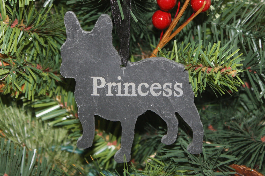 french bulldog slate christmas ornament personalized memorial for