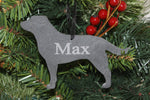 Labrador Retriever Slate Christmas Ornament