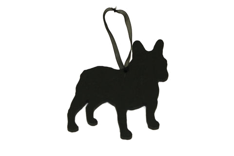 French Bulldog Slate Christmas Ornament- Personalized Memorial for your Pet