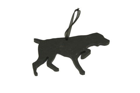 German Shorthaired Pointer Slate Christmas Ornament- Personalized with Laser Engraving