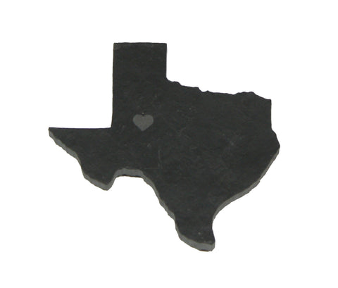 Texas Slate Fridge Magnet- Personalized with Laser Engraving