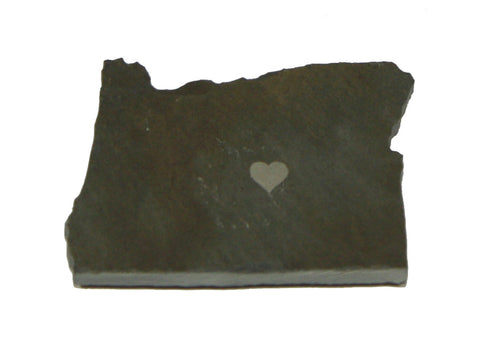 Oregon Slate Fridge Magnet- Personalized with Laser Engraving