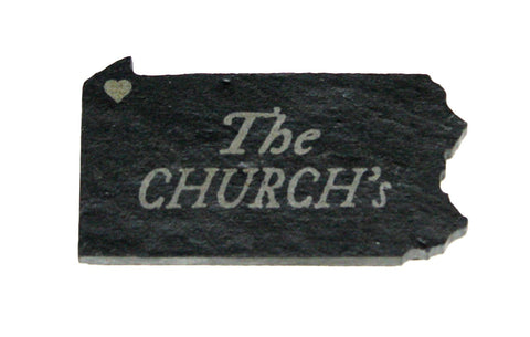 Pennsylvania Slate Magnet with Engraving